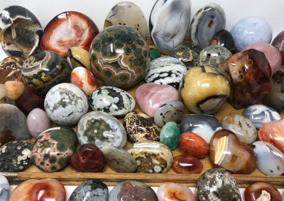 Cube Minerals - Ocean Jasper, Carnelian, Fluorite, Dendritic Agate, Septrian, Rose Quartz