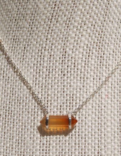 029698 Carnelian Silver Necklace