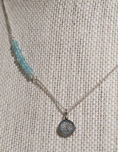029816 Tree of Life 2 With Apatite Silver Necklace